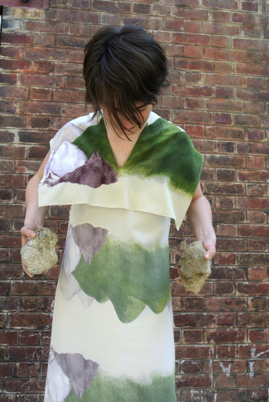 Dress, silk print Mountain, design Anne Touquet, limited series / 2014