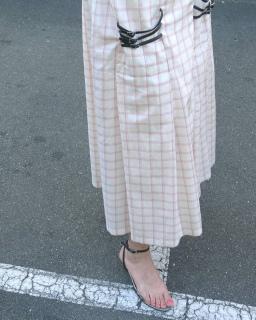 Jupe en coton-soie avec élément de chaussures, pièce unique / 2016