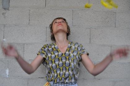 Haut en soie créée par Nathalie Pellon, série limitée / 2012