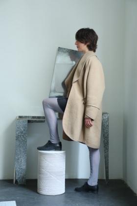 Manteau en couverture de cheval en laine, pièce unique / 2012