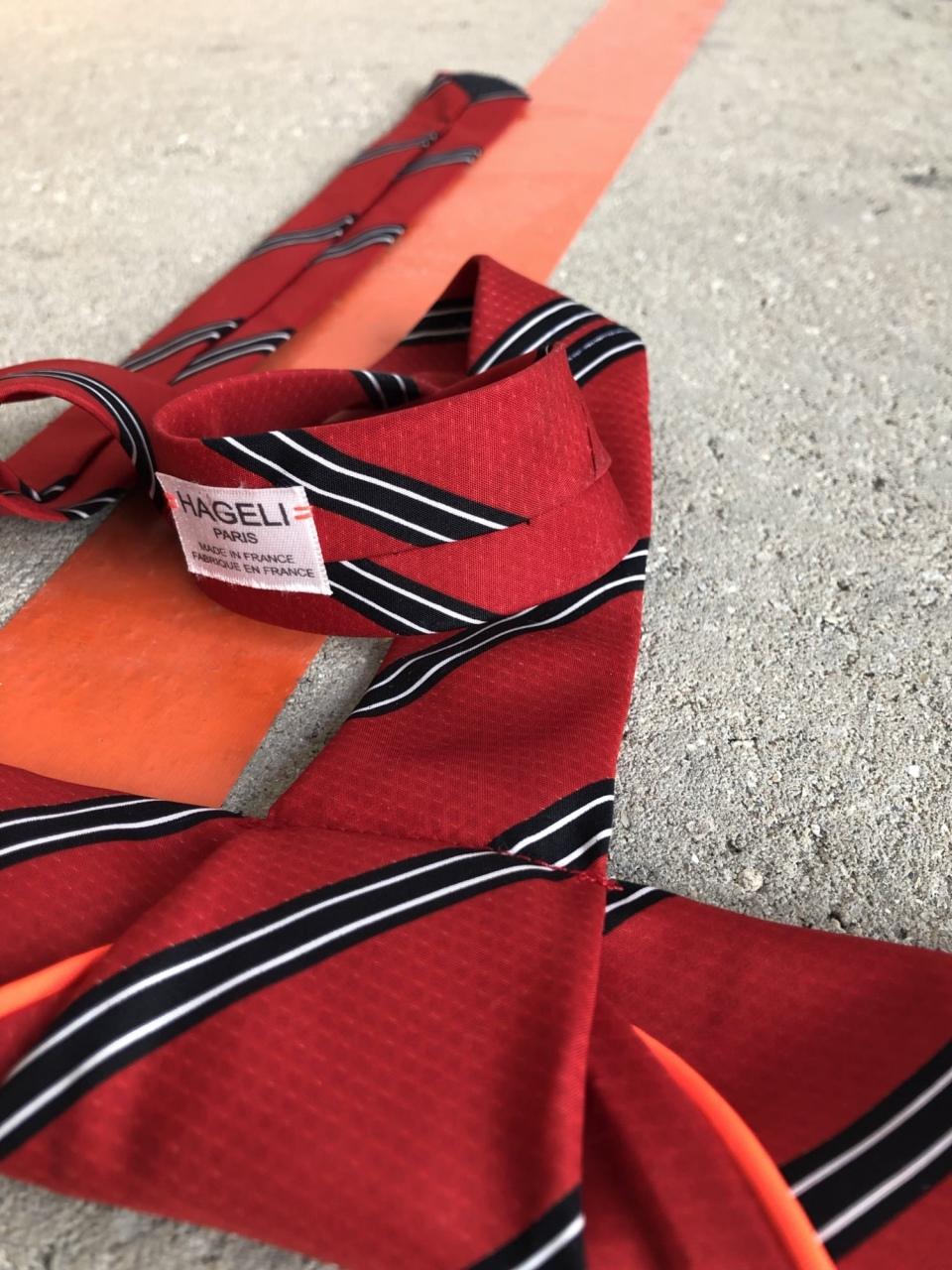 Coquette en soie de cravate vintage, pièce unique / 2019