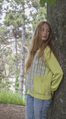 Pullover, cotton from vintage shirt and pullover, unique piece / 2018