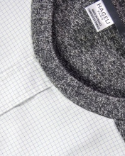 Pull en coton et laine de chemise et pull vintage, pièce unique / 2018