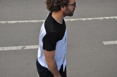 T-shirt en coton de chemise vintage et T-shirt vintage, pièce unique / 2019