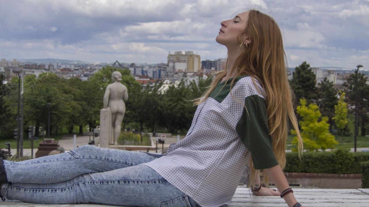 T-shirt en laine de pulls vintage et coton de fin de série, pièce unique / 2019