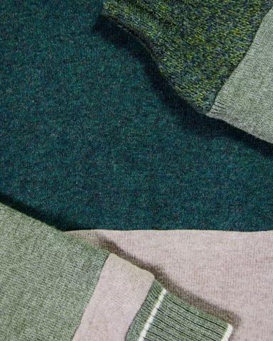 Pull en laine de pulls vintage, pièce unique / 2017