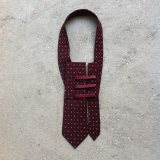 Tie Plastron, silk from vintage tie, unique piece / 2016