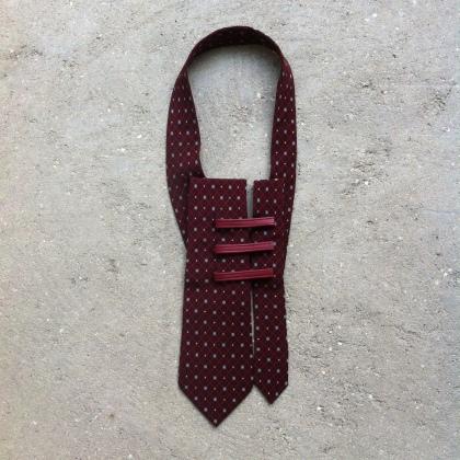 Plastron en soie de cravate vintage, pièce unique / 2016